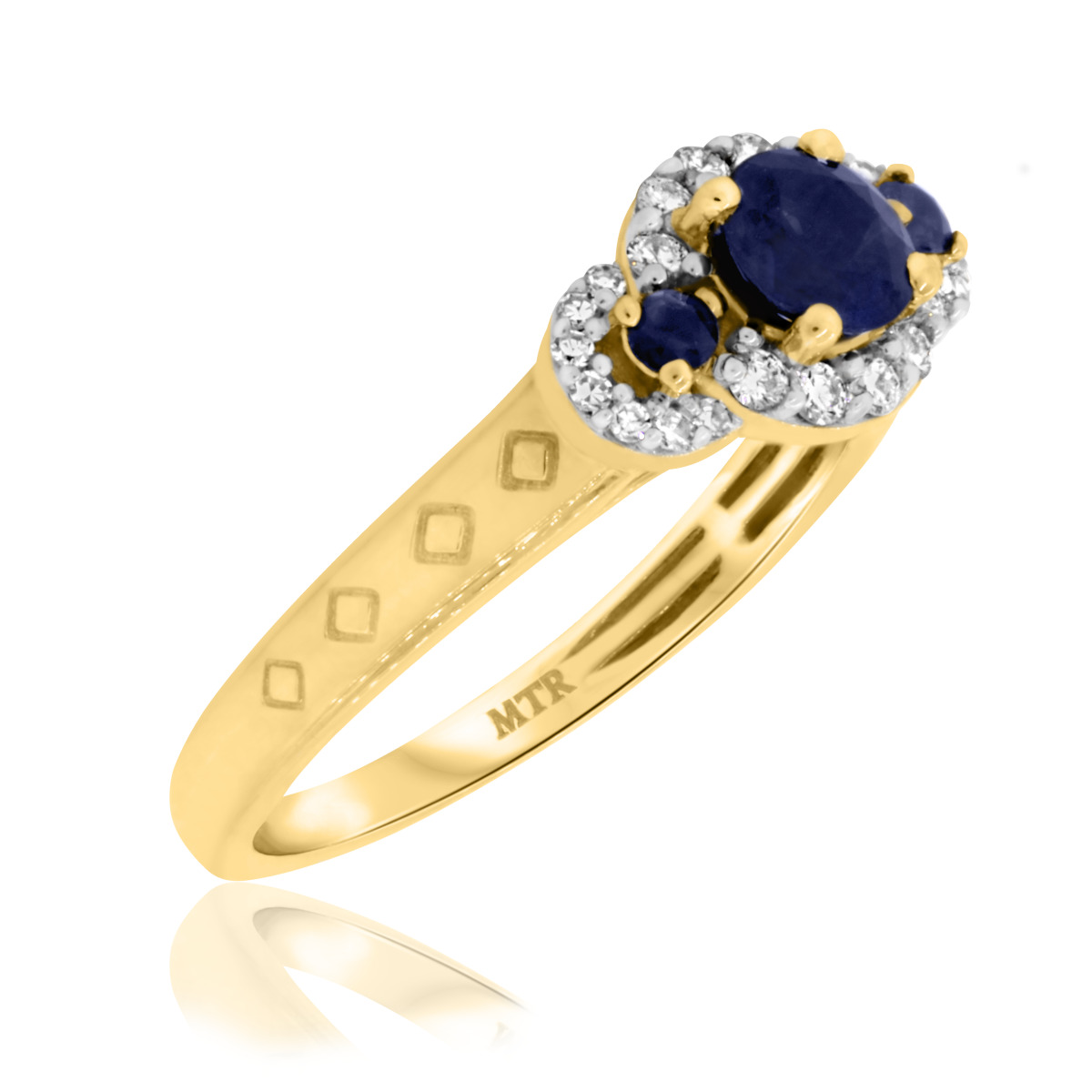 7/8 Carat T.W. Sapphire Engagement Ring 10K Yellow Gold