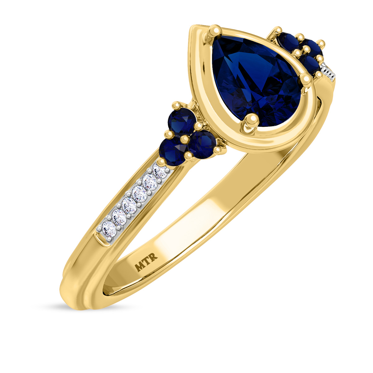 3/4 CT. T.W. Sapphire Engagement Ring 10K Yellow Gold