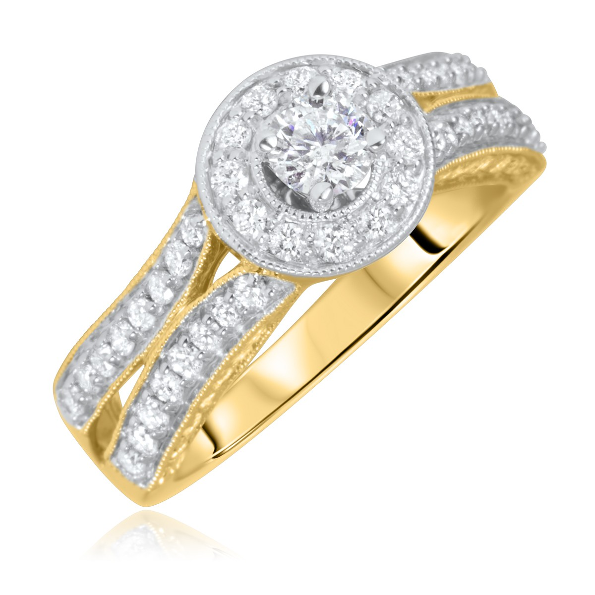 1 ct t w cut bridal wedding ring
