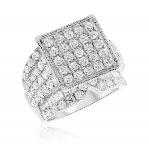 4 Carat T.W. Diamond Engagement Ring 14K White Gold