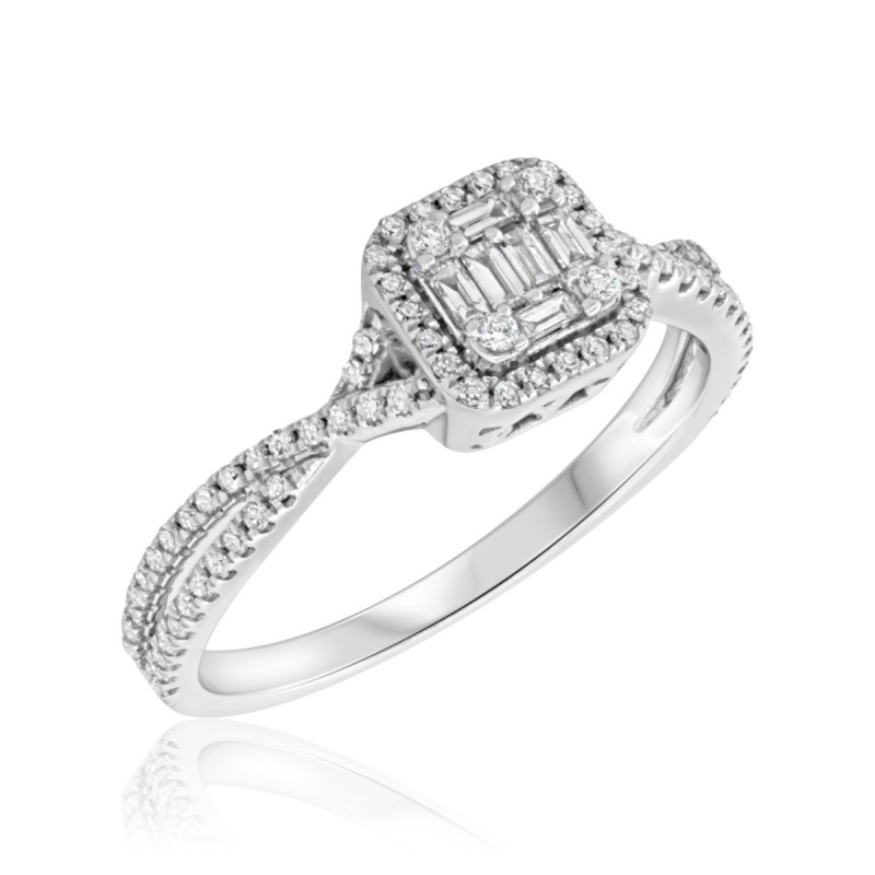 fd863eda7 Diamond Engagement Ring 3/8 ct tw Round-cut 10K White Gold. Tap to expand
