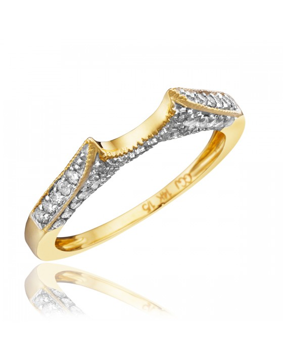 1/4 CT. T.W. Diamond Ladies' Wedding Band 14K Yellow Gold
