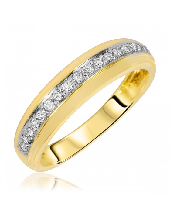 1/7 Carat T.W. Diamond Women's Wedding Ring 14K Yellow Gold