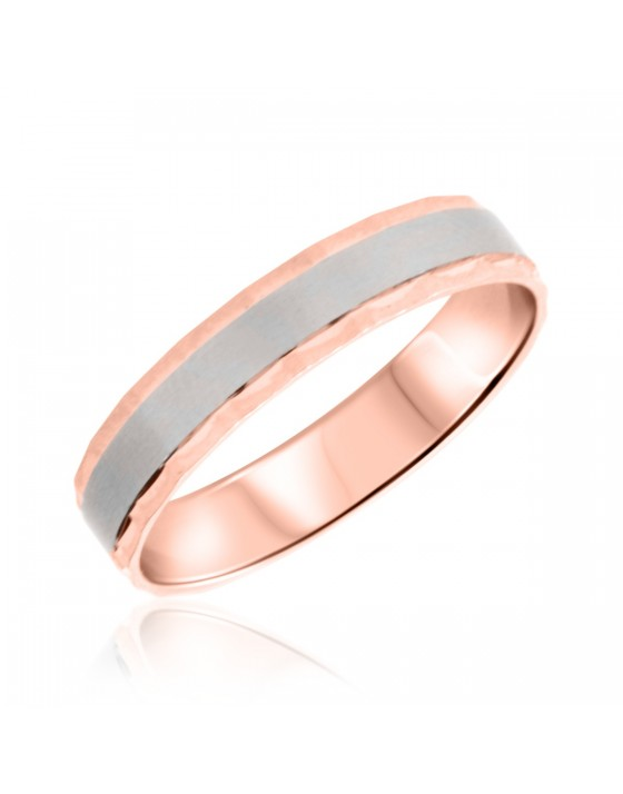 Mens Wedding Band 10K Rose Gold