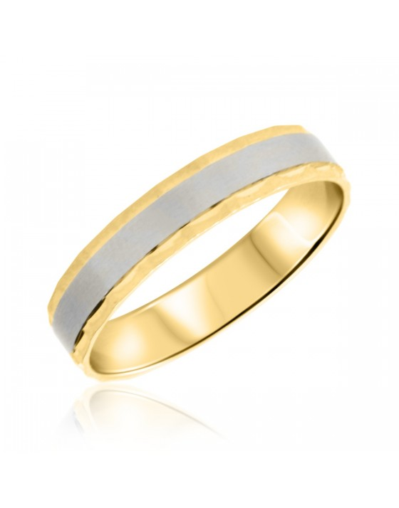 Mens Wedding Band 10K Yellow Gold