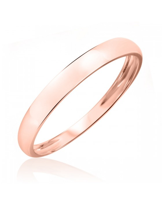 Men's Wedding Band 10K Rose Gold