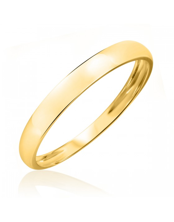 Men's Wedding Band 14K Yellow Gold