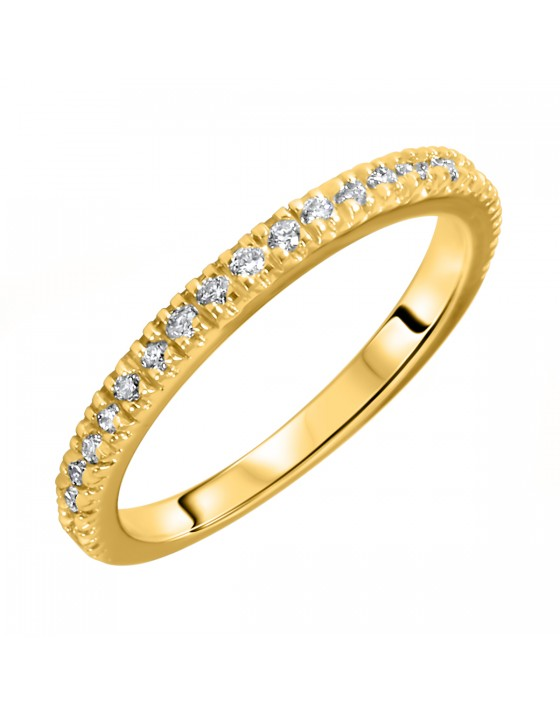 1/4 Carat T.W. Round Cut Diamond Ladies Wedding Band 14K Yellow Gold