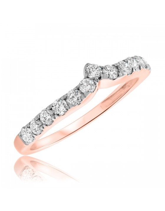 3/4 CT. T.W. Diamond Ladies Wedding Band  14K Rose Gold