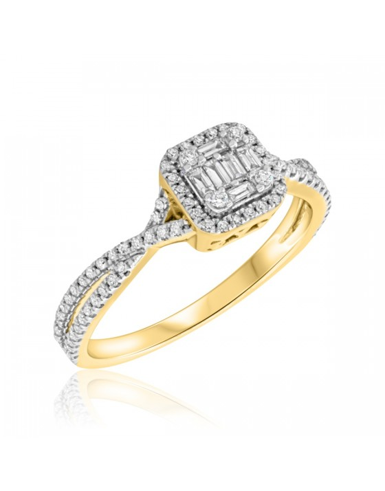 1/2 CT. T.W. Diamond Engagement Ring 10K Yellow Gold