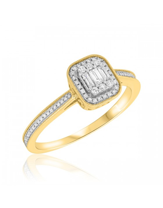1/3 CT. T.W. Diamond Engagement Ring 10K Yellow Gold