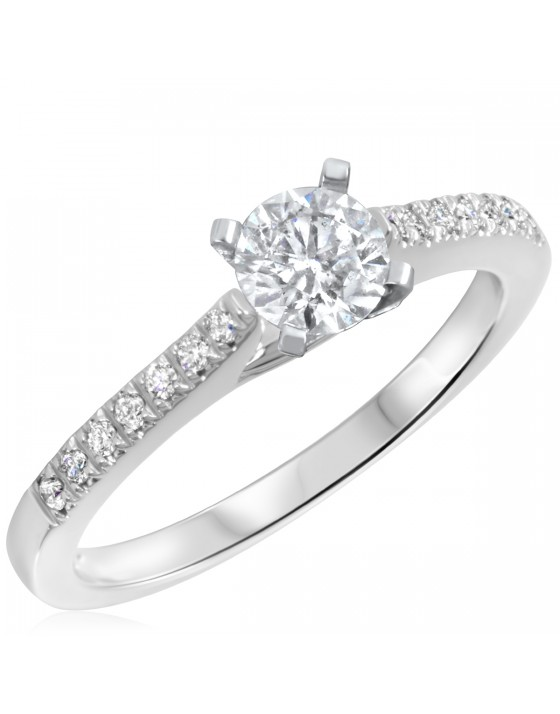 5/8 CT. T.W. Diamond Ladies Engagement Ring 14K White Gold