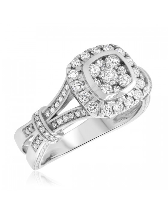 7/8 CT. T.W. Diamond Engagement Ring 10K White Gold