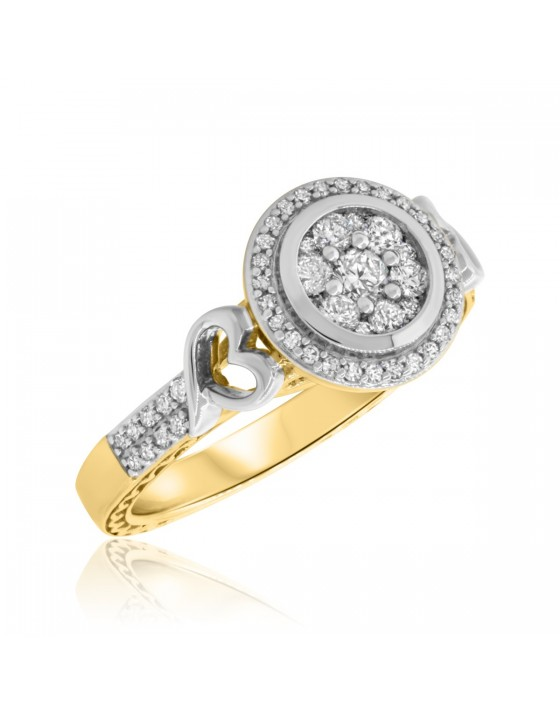 5/8 Carat T.W. Diamond Engagement Ring 10K Yellow Gold