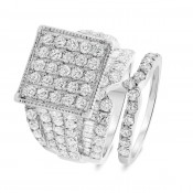 4 2/3 CT. T.W. Diamond Matching Bridal Ring Set 14K White Gold