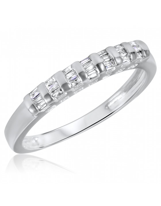 1/4 CT. T.W. Diamond Ladies' Wedding Band 14K White Gold