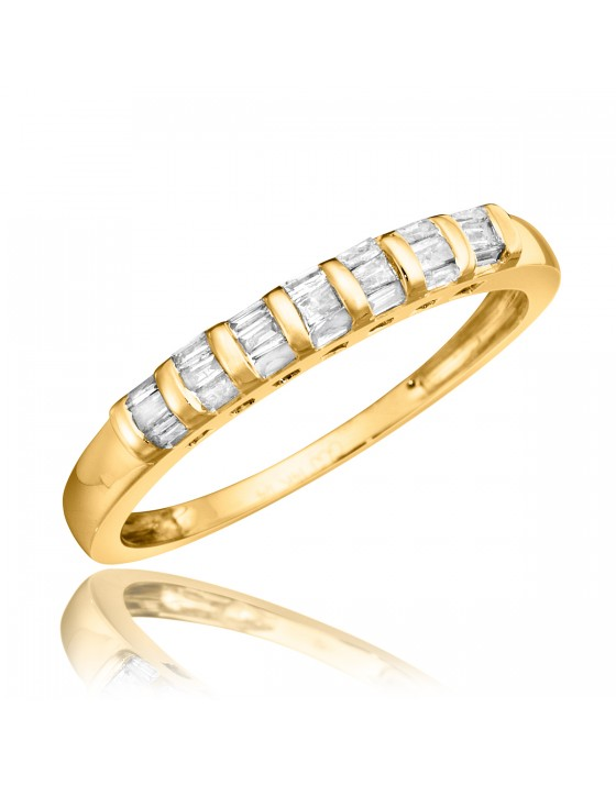 1/4 Carat T.W. Diamond Ladies' Wedding Ring 10K Yellow Gold