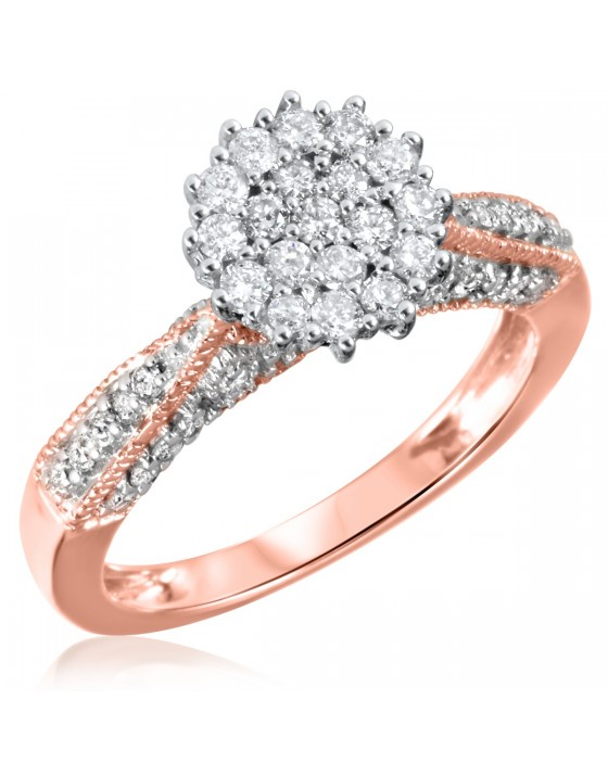 3/4 CT. T.W. Diamond Ladies Engagement Ring 10K Rose Gold