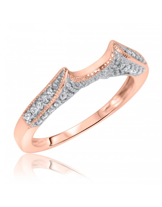 1/4 Carat T.W. Diamond Women's Wedding Ring 10K Rose Gold