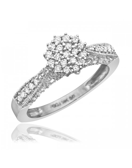 1/2 Carat T.W. Diamond Women's Engagement Ring 14K White Gold