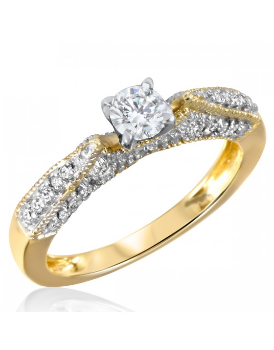 5/8 CT. T.W. Diamond Ladies Engagement Ring 14K Yellow Gold