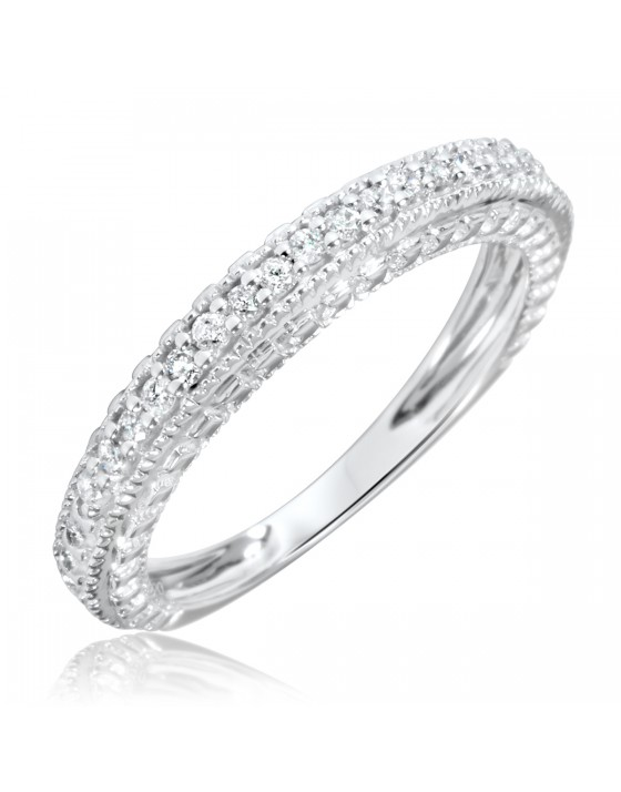 1/5 Carat T.W. Diamond Women's Wedding Ring 14K White Gold