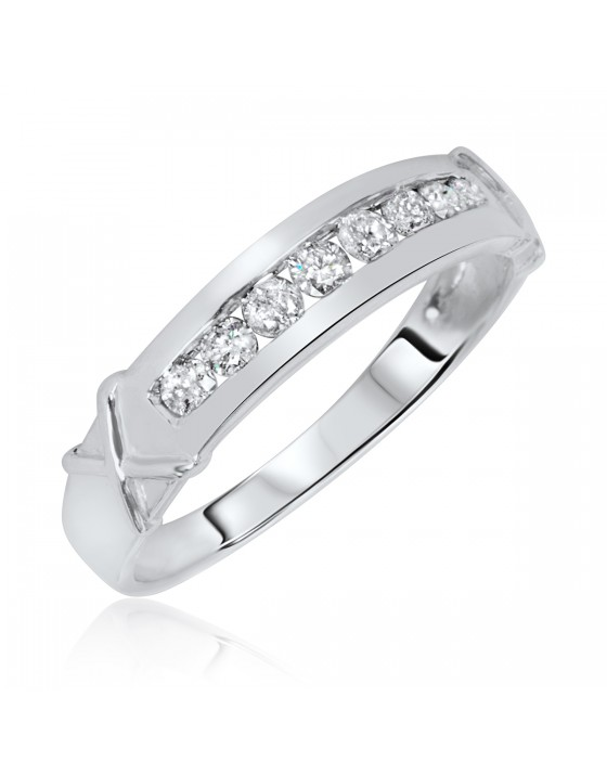 1/3 Carat T.W. Diamond Ladies' Wedding Ring 10K White Gold