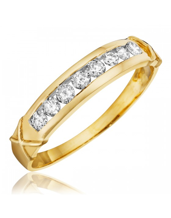 1/3 CT. T.W. Diamond Women's Wedding Band 10K Yellow Gold