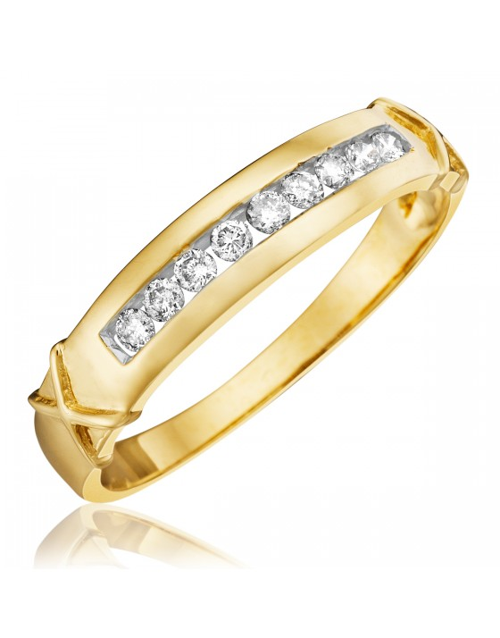 1/3 CT. T.W. Diamond Men's Wedding Band 10K Yellow Gold