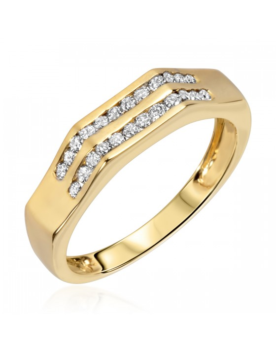 1/4 CT. T.W. Diamond Ladies' Wedding Band 10K Yellow Gold