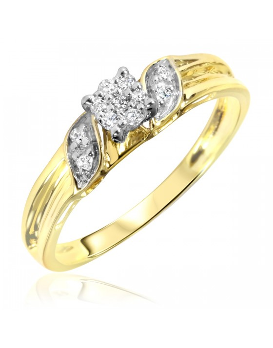 1/10 Carat T.W. Diamond Women's Engagement Ring 10K Yellow Gold