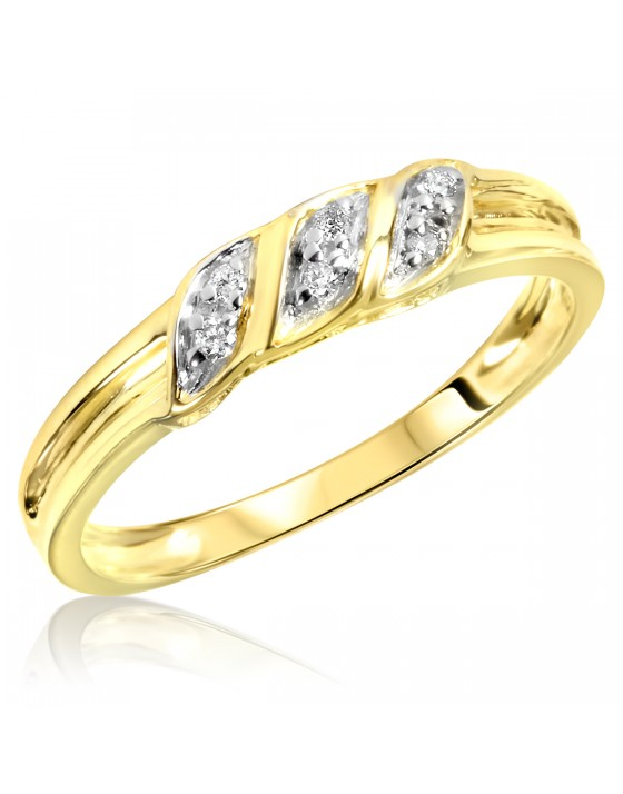 1/15 Carat T.W. Diamond Women's Wedding Ring 10K Yellow Gold
