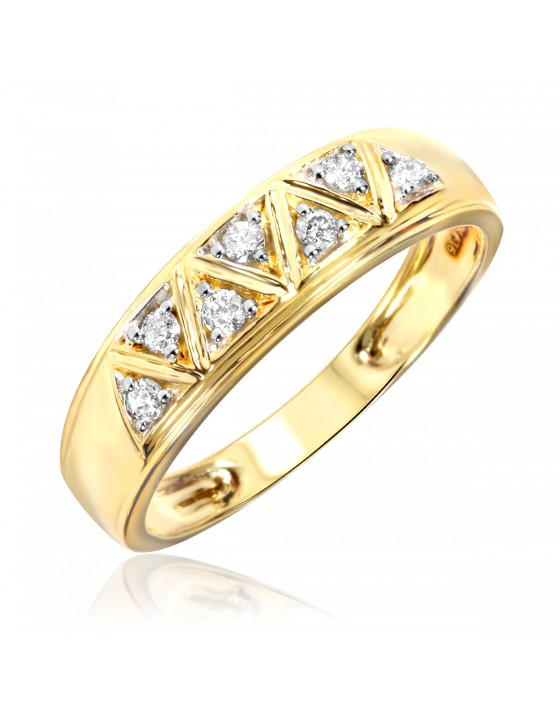 1/6 Carat T.W. Diamond Women's Wedding Ring 14K Yellow Gold