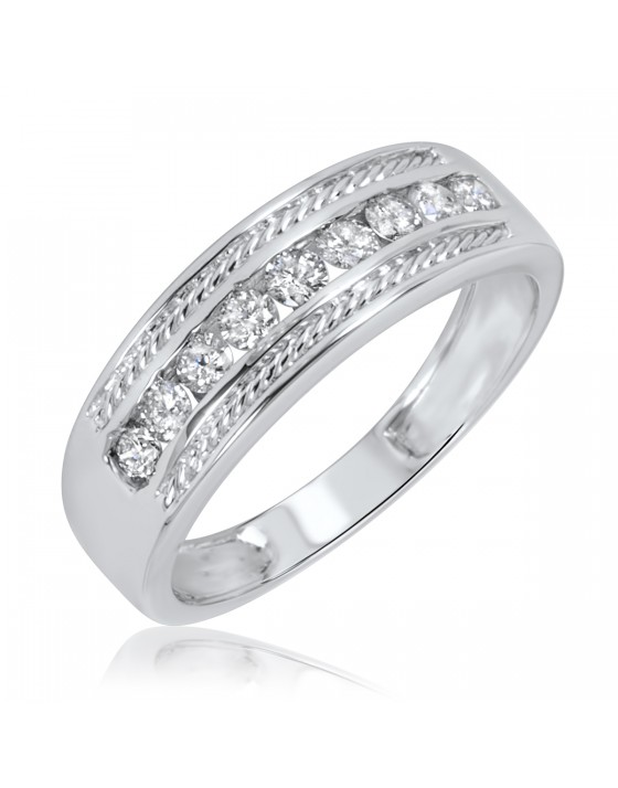 3/8 Carat T.W. Diamond Ladies' Wedding Ring 14K White Gold