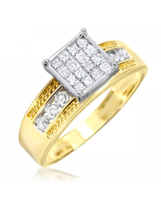 2/3 Carat T.W. Diamond Women's Engagement Ring 14K Yellow Gold