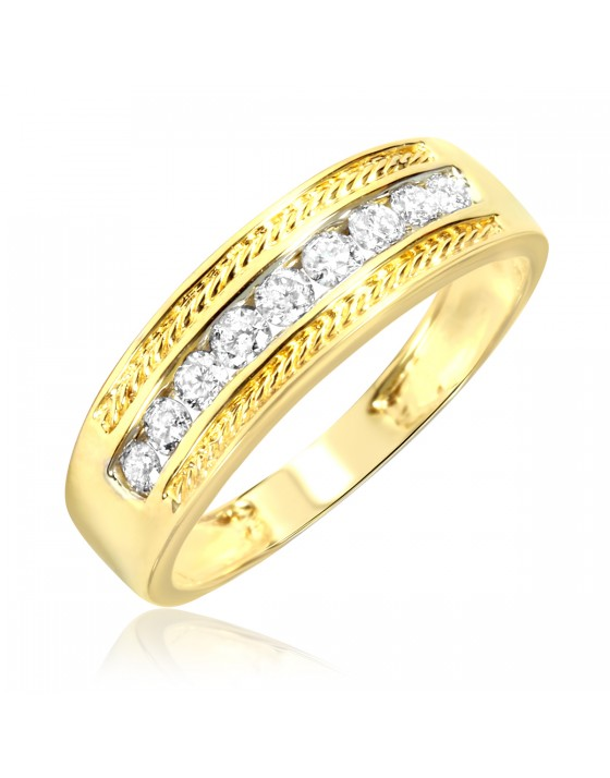 3/8 Carat T.W. Diamond Ladies' Wedding Ring 14K Yellow Gold