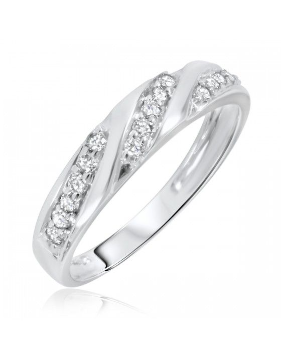 1/4 Carat T.W. Diamond Women's Wedding Ring 10K White Gold