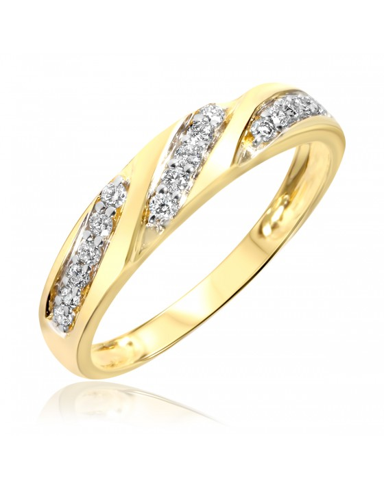 1/4 Carat T.W. Diamond Women's Wedding Ring 10K Yellow Gold