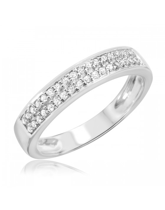 1/4 CT. T.W. Diamond Ladies' Wedding Band 10K White Gold