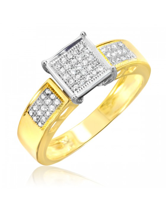 1/6 CT. T.W. Diamond Ladies' Engagement Ring 10K Yellow Gold