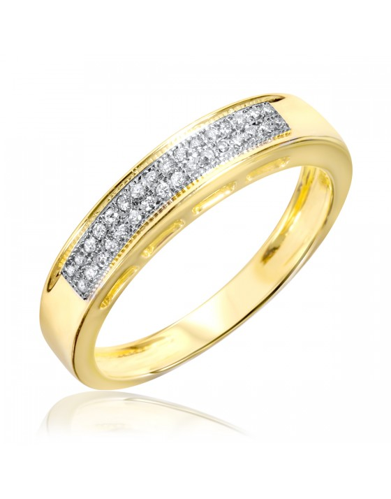1/10 CT. T.W. Diamond Ladies' Wedding Band 10K Yellow Gold