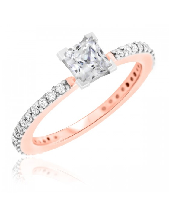 1 1/4 CT. T.W. Diamond Ladies Engagement Ring 14K Rose Gold