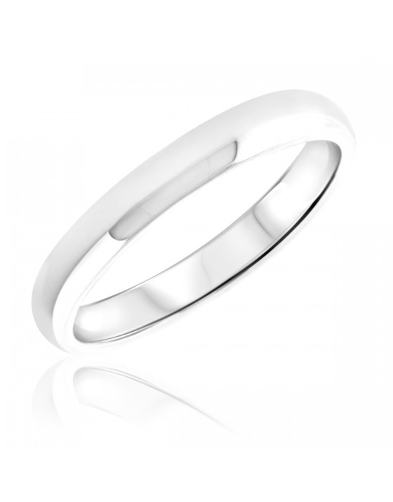 Ladies Wedding Band 10K White Gold