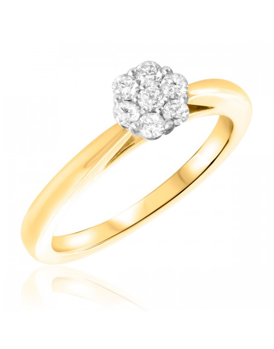 1/3 CT. T.W. Diamond Ladies Engagement Ring 10K Yellow Gold