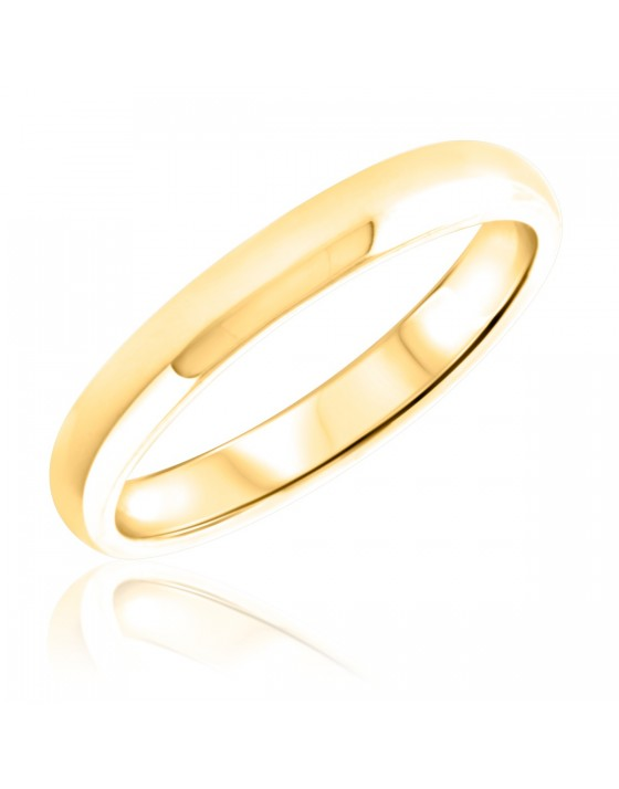 Ladies Wedding Band 10K Yellow Gold