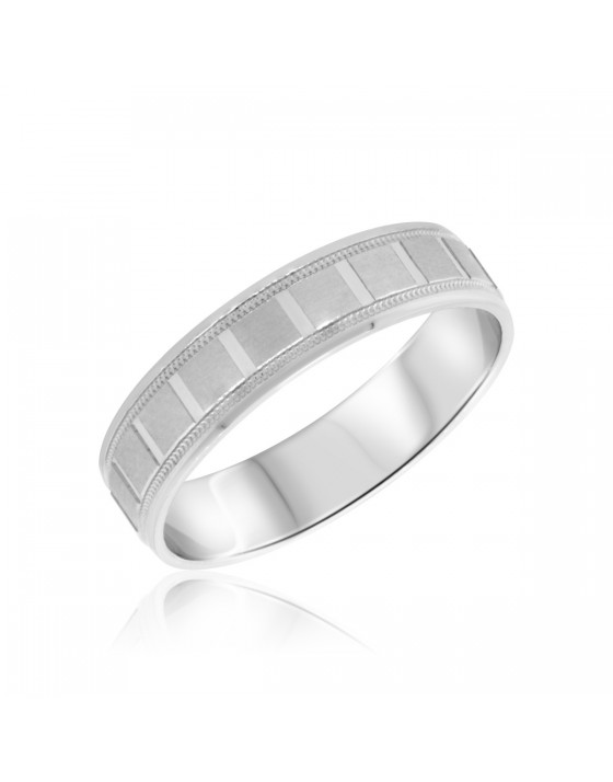 Ladies Wedding Band  14K White Gold