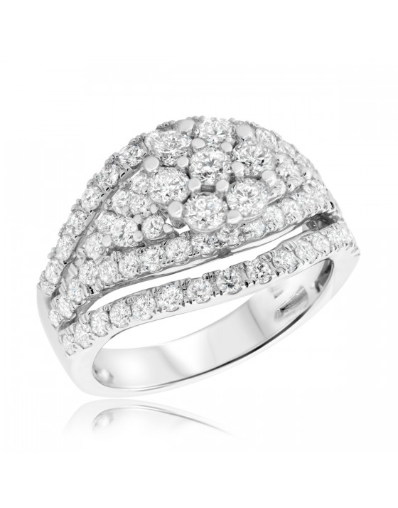 2 Carat T.W. Diamond Engagement Ring 14K White Gold