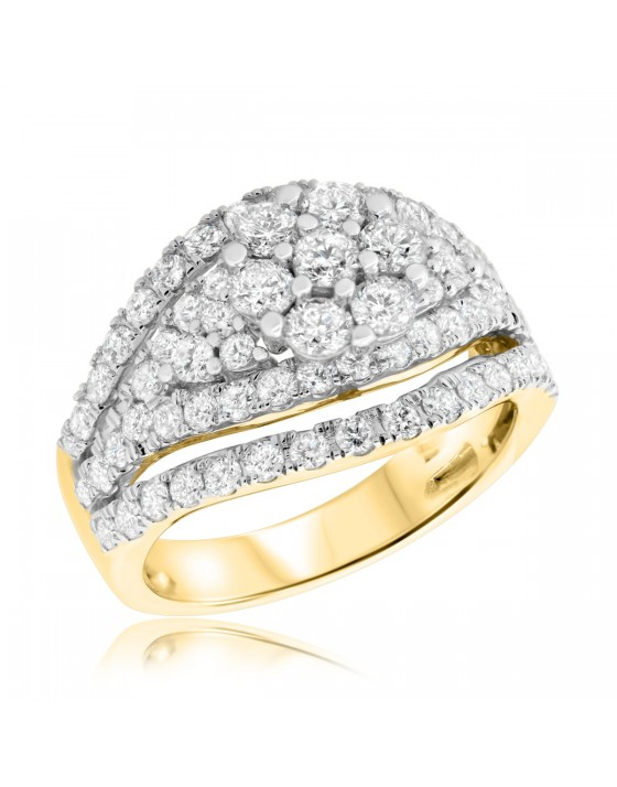 2 CT. T.W. Diamond Engagement Ring 10K Yellow Gold