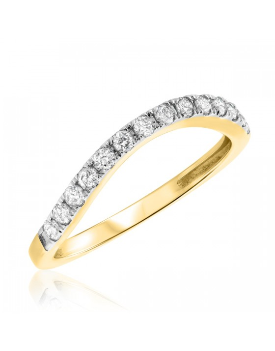 1/3 CT. T.W. Diamond Ladies Wedding Band 10K Yellow Gold
