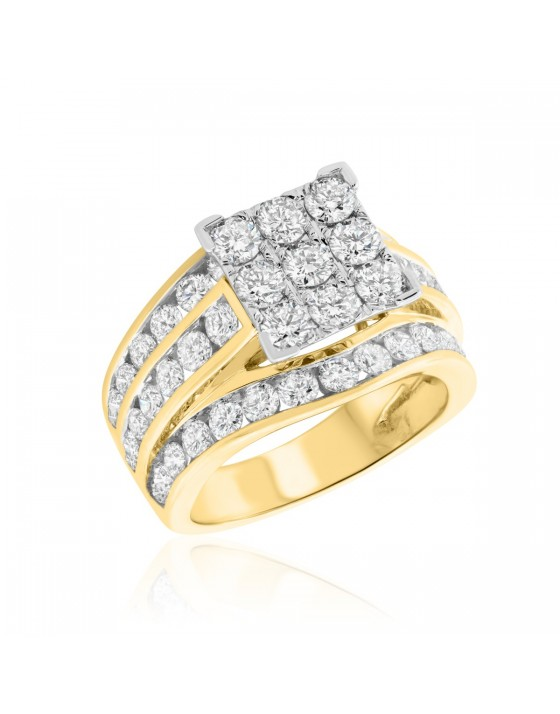 3 Carat T.W. Diamond Engagement Ring 10K Yellow Gold